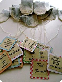 personalized tea bags, mod podge craft