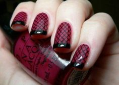 Maroon and black lace