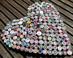 Rolled Paper Heart Clock by all things paper, via Flickr - Recycled Paper Clocks