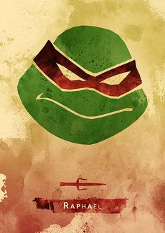 Ninja Turtles Minimalist Movie Poster Set / Raphael by moonposter