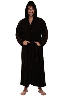 915094ecf4 Del Rossa Men s Fleece Full Length Hooded Bathrobe Robe  fashion  men  women  http