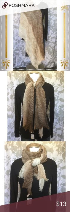 Beautiful Gold Scarf NWOT Beautiful gold crimp style scarf Accessories Scarves & Wraps