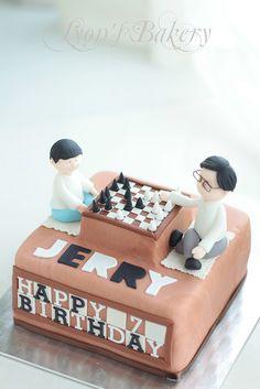 Adorable chess cake