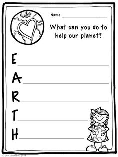 FREEBIE! Earth Day is April 22nd. I hope you enjoy this Earth Day acrostic poem activity!