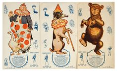 Vintage Paper Dolls - Circus