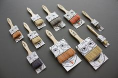 paintbrush packaging by Poilu