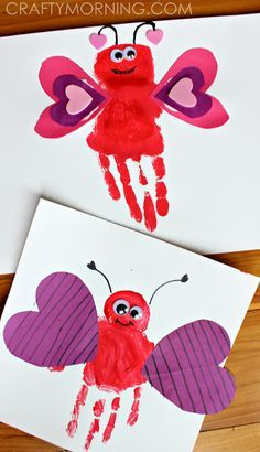 Handprint Love Bug Valentine Craft for Kids | CraftyMorning.com