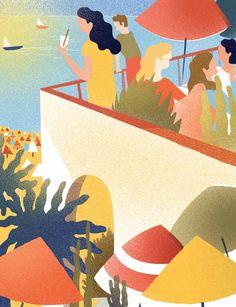 Charlotte Molas vit et travaille entre Paris et Biarritz. Se dédiant à ses expositions, collaborations et parutions dans la presse, elle est désormais une illustratrice à plein temps.