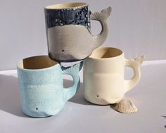 This wonderful family of mugs. | 27 Adorable Things You Need If You Love Whales