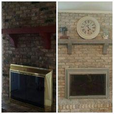 Fireplace renovation!