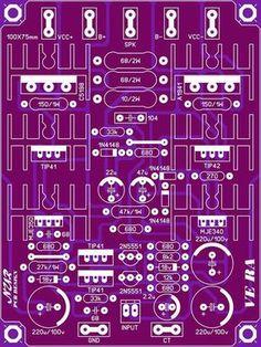 500 Watt Amplifier Circuit Diagram   Pcb Layout Super Ocl 500 Watt Power Amplifier Circuit Diagram