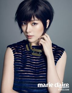 Short Haired Han Ji Min Is Cute & Sexy For Marie Claire Korea (@David and Susan Campbell) | Couch Kimchi