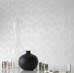 Super Fresco Shape & Form (30-190). Roomset shown in same or different colourway.