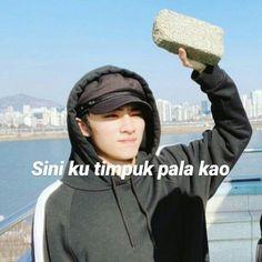 Memes Funny Faces, Funny Kpop Memes, Cute Memes, Stupid Memes, Funny Pranks, Reading Meme, Cute Cartoon Images, K Meme, Nct Dream Jaemin