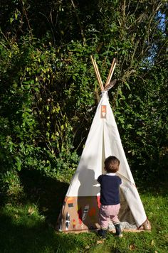 fabriquer un tipi soi m me pi ces de monnaie chic et ps. Black Bedroom Furniture Sets. Home Design Ideas