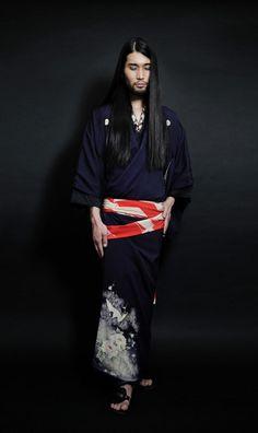 thekimonogallery: Modeling #kimono. #Tokyo, Japan.