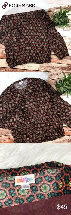 Lularoe bohemian printed bomber jacket Size large, in excellent pre owned condition, no flaws! Length-27, bust-30 our to pit fits slouchy! ***NO modeling or trades! ::005 LuLaRoe Jackets & Coats