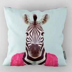 Evermade Zoo Portrait Cushion – Zebra art print pillow