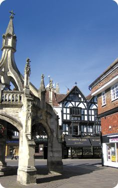 The 15th Century Poultry Cross, where farmers would gather to sell their poultry, Salisbury, Wiltshire.
