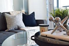 Modern condo design. Design collaborators: Reyes & Co. Design Studio and Samantha Concepcion Designs Reyes, Contemporary Interior, Condo, Throw Pillows, Interiors, Bed, Projects, Home, Cushions