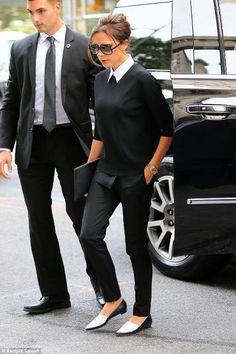 Victoria Beckham wearing Victoria Beckham Barathea Wool Trousers
