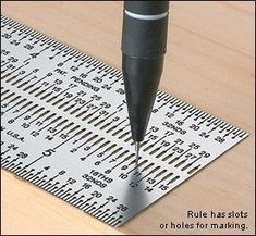 """Marking Ruler . This will be added to my stash of """"gotta gets"""" #woodworkingtips"""