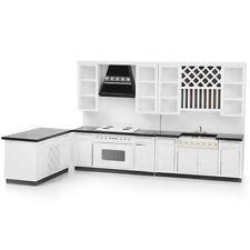 Bespaq Dollhouse Miniature Kitchen Cabinet Furniture Set