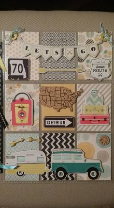 Let's Go Travel Pocket Letter Album Scrapbook, Travel Scrapbook, Scrapbook Paper, Pocket Page Scrapbooking, Scrapbook Page Layouts, Pocket Pal, Pocket Cards, Atc Cards, Journal Cards