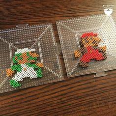 Mario and Luigi hama beads by piercepopart