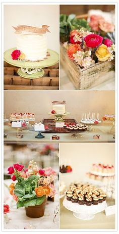 Love this! The cake, flowers, various cupcakes. So cute. I am not partial to cake pops or banners, though.