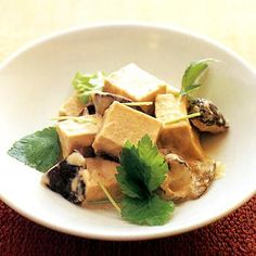 高野豆腐としいたけの練りごまクリーム煮