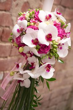 Floral Wedding, Wedding Bouquets, Wedding Flowers, Beautiful Flowers, Beautiful Bouquets, Floral Arrangements, Orchids, Bloom, Candles