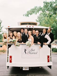 Southern Weddings in Atlanta - 550 Trackside - Amy Arrington Photography - Epting Events - trolley