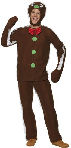 gingerbread man costume simple one for grown ups more - Ups Man Halloween Costume