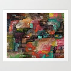 Abstract 77 Art Print by Davs - $17.68