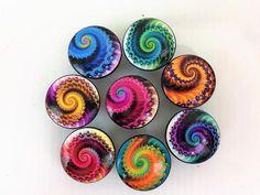 Set of 8 Fractal Swirl Cabinet Knobs