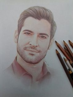 I'm like walking heroin, very habit forming. It never ends well. Tom Ellis Lucifer, Art Drawings Sketches, Horse Drawings, Drawing Art, Celebrity Drawings, Vampire, Morning Star, Beautiful Drawings, Beautiful Pictures