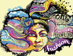 Arte temática para campanha Primavera-Verão das Lojas Maitê #art #moda #illustration #verao #primavera