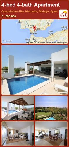 Apartment for Sale in Guadalmina Alta, Marbella, Malaga, Spain with 4 bedrooms, 4 bathrooms - A Spanish Life Marbella Malaga, Log Fires, Malaga Spain, Built In Wardrobe, Al Fresco Dining, Entrance Hall, Apartments For Sale, Guest Bedrooms, Terrace