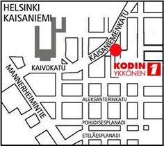 Kodin1, Kaisaniemi, Helsinki. Kaisaniemenkatu 5, 00100 HELSINKI.  Puh. 01053 46500. Aukioloajat: ma-pe 10-21, la 10-18, su 12-18 (poikkeukset mahdollisia). Helsinki, Finland, Shops, Marketing, Cafes, Tents, Retail Stores