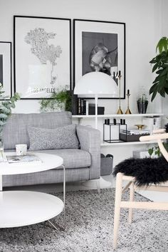 Wishbone chair by Hans J Wegner from Carl Hansen, Panthella floor lamp by Verner Panton from Louis Poulsen and Kubus 8 candle holder  by Mogens Lassen from By Lassen
