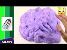 How To Make FLUFFY SLIME With SHAVING CREAM DIY Galaxy Slime Without Borax or Liquid Starch - YouTube