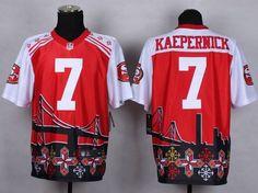 f21782076 Nike San Francisco 49ers  7 Colin Kaepernick Red Men s Stitched NFL Elite  Noble Fashion Jersey