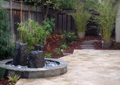 Extremely simple, low maintenance design for a small yard.