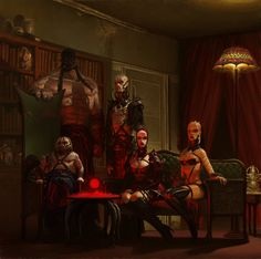 'the Others-seven sins' board game art- the Hell club', adrian smith on ArtStation at http://www.artstation.com/artwork/the-others-seven-sins-board-game-art-the-hell-club