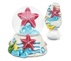 Puzzled Starfish Resin Stone Finish Collection including Snow Globe, and Magnet Bottle Opener - Unique Elegant Gift and Souvenir >>> Remarkable product available now. : Home Decor Snow Globes