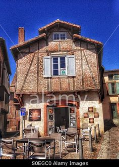 Creperie Saint Loup, Albi,France Stock Photo