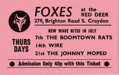 Punk Flier - Red Deer, Croydon July 1977