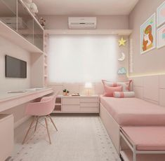 33 tolle College-Schlafzimmer Dekor-Ideen und umgestalten 33 awesome college bedroom decor ideas and remodel Small Apartment Bedrooms, Small Room Bedroom, Modern Bedroom, Small Teen Room, Bedroom Bed, Small Bedroom Ideas For Girls, Cute Rooms For Girls, Decor For Small Bedroom, Bedroom For Kids