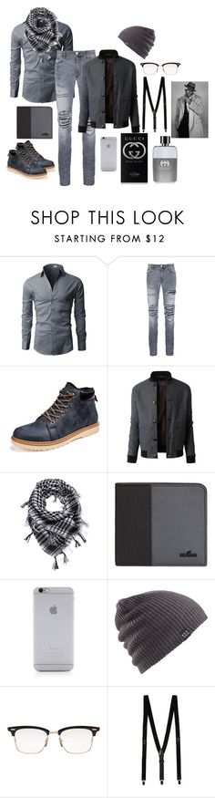 """Untitled #246"" by chocolateladi on Polyvore featuring AMIRI, LE3NO, Hogan, Native Union, Burton, Thom Browne, Topman, Gucci, men's fashion and menswear"